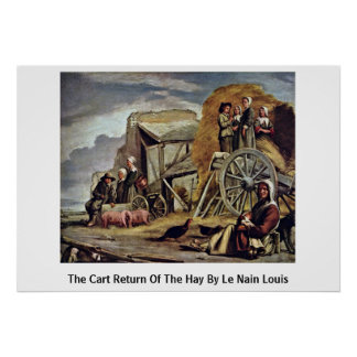 The Cart Return Of The Hay By Le Nain Louis Poster