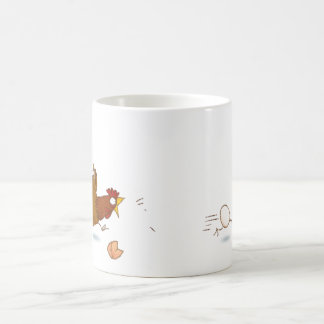 The Cartoon Cooking Chicken Classic White Coffee Mug