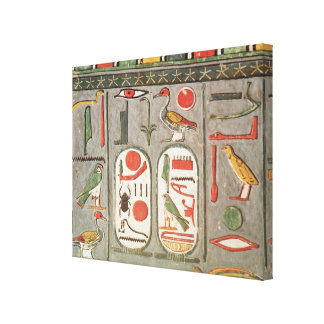 The cartouche of the king canvas print