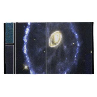 The Cartwheel Galaxy- Result of a Bull's-Eye Colli iPad Folio Cases