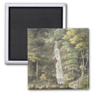 The Cascade Waterfall at Hestercombe Gardens (w/c 2 Inch Square Magnet