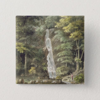 The Cascade Waterfall at Hestercombe Gardens (w/c Button