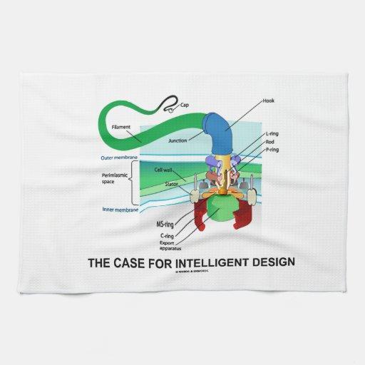 The Case For Intelligent Design (Flagellum) Kitchen Towel