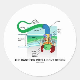 The Case For Intelligent Design (Flagellum) Round Sticker