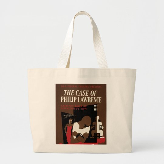 The Case of Philip Lawrence Large Tote Bag