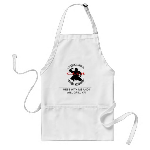 the cash logo, MESS WITH ME AND I WILL GRILL YA! Adult Apron