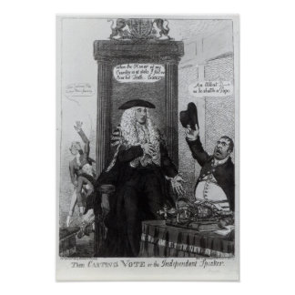 The Casting Vote, or the Independant Speaker Poster