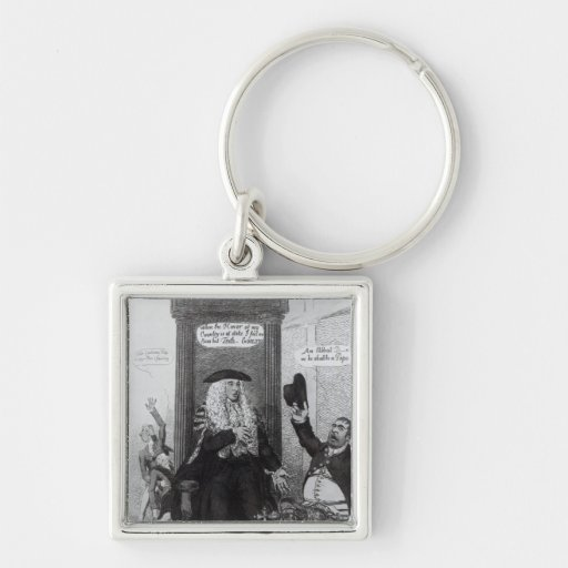 The Casting Vote, or the Independant Speaker Silver-Colored Square Keychain