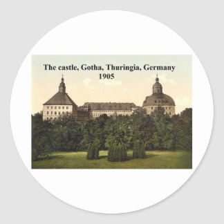 The castle 1905, Gotha, Thuringia, Germany Classic Round Sticker