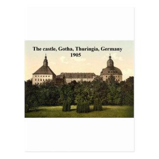 The castle 1905, Gotha, Thuringia, Germany Postcard