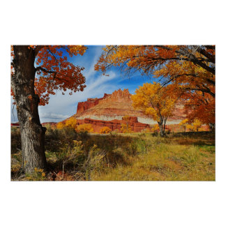 The Castle at Capitol Reef National Park, Utah Poster