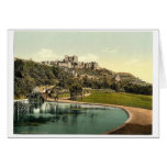 The castle from the park, Dover, England rare Phot Greeting Card
