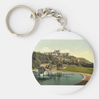 The castle from the park, Dover, England rare Phot Keychain