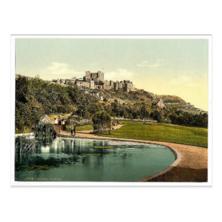 The castle from the park, Dover, England rare Phot Postcard