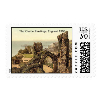 The Castle, Hastings, England 1905 Postage