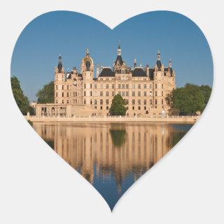 The castle in Schwerin in Germany Heart Sticker