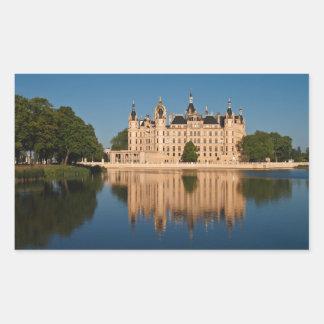 The castle in Schwerin in Germany Rectangular Sticker