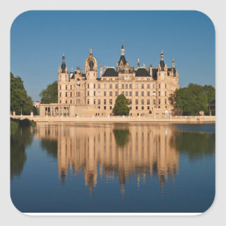 The castle in Schwerin in Germany Square Sticker