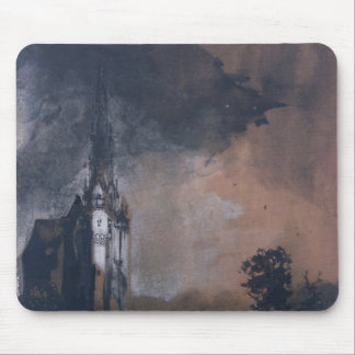 The Castle in the Moonlight Mouse Pad