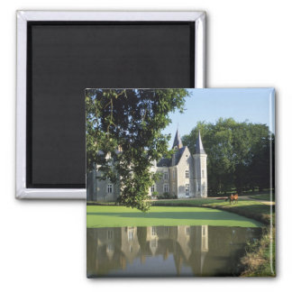 The castle in the park and the gardens MR) Refrigerator Magnets