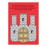 """The Castle Invitation 5"""" X 7"""" Invitation Card"""