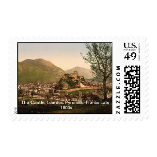 The Castle, Lourdes, Pyrenees, France Late 1800s Postage