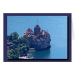 The Castle of Chillon from above! Greeting Card