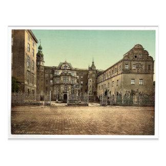 The Castle of Dessau, Anhalt, Germany vintage Phot Postcard