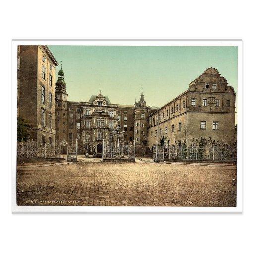 The Castle of Dessau, Anhalt, Germany vintage Phot Post Card