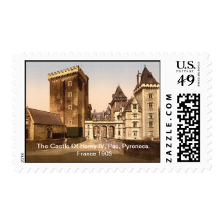 The Castle Of Henry IV, Pau, Pyrenees, France 1905 Postage Stamp