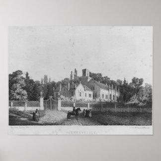 The Castle of Pohrebyszcze where Madame Hanska Poster