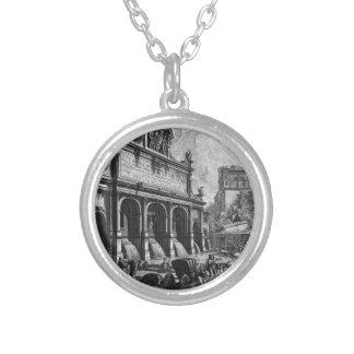The Castle of the Acqua Felice Giovanni Battista Round Pendant Necklace