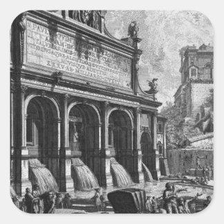 The Castle of the Acqua Felice Giovanni Battista Square Sticker