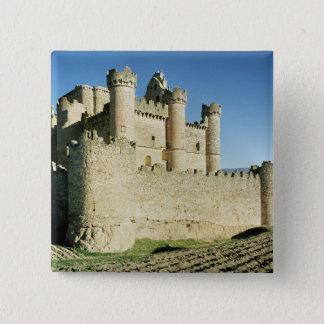 The castle pinback button