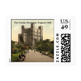 The Castle, Rochester, England 1905 Postage