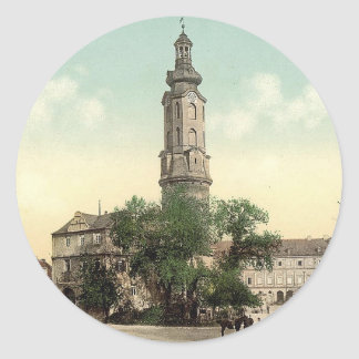 The castle, Weimar, Thuringia, Germany Classic Round Sticker