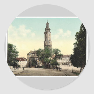 The castle Weimar Thuringia Germany rare Photoc Round Sticker