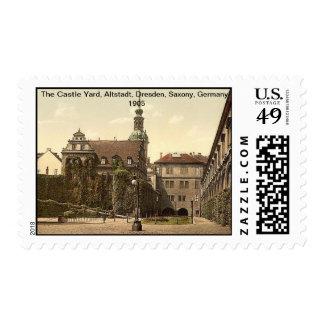 The Castle Yard, Altstadt, Dresden, Saxony,Germany Postage