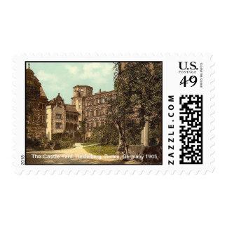 The Castle Yard, Heidelberg, Baden, Germany 1905 Postage