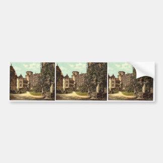 The Castle Yard, Heidelberg, Baden, Germany rare P Bumper Stickers