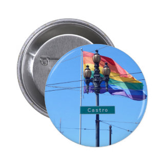 The Castro San Francisco Street Sign Button