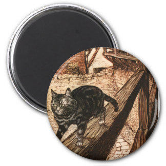 The Cat and Mouse in Partnership 2 Inch Round Magnet