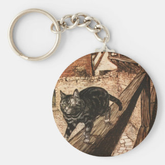 The Cat and Mouse in Partnership Basic Round Button Keychain
