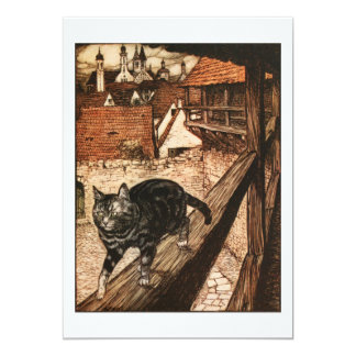 """The Cat and Mouse in Partnership 5"""" X 7"""" Invitation Card"""