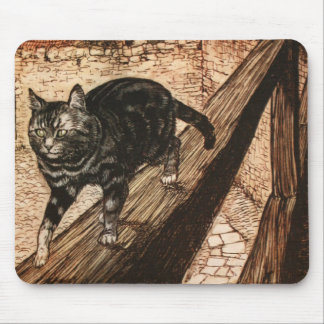 The Cat and Mouse in Partnership Mouse Pads