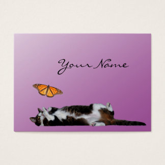The cat and the butterfly Business card