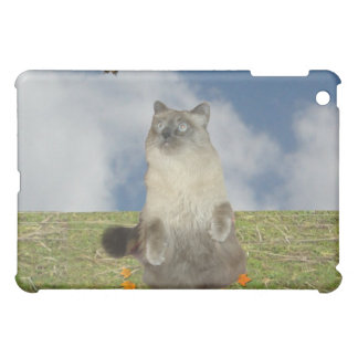 The cat and the butterfly iPad mini cover
