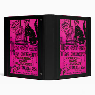 The Cat and the Canary 3 Ring Binder
