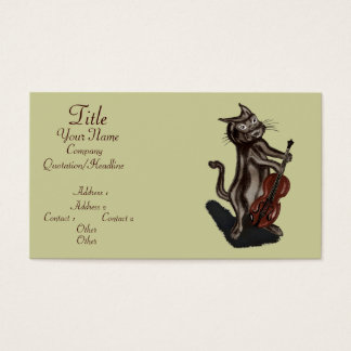 The Cat and the Fiddle Business Card