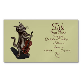 The Cat and the Fiddle Magnetic Business Card